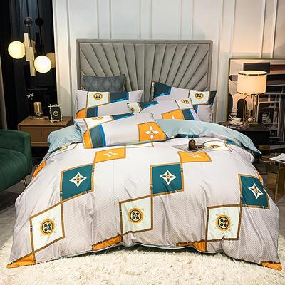 圆网水洗真丝四件套 1.8m床单款四件套 雅阁布里