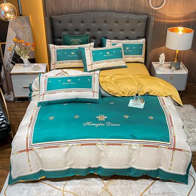 平网水洗真丝四件套 1.8m床单款四件套 南伊