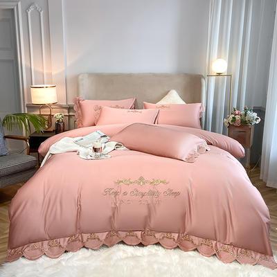 全棉星辰刺绣系列四件套 1.8m床单款四件套 星辰-豆沙