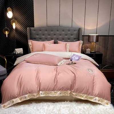 2021新款全棉刺绣系列四件套-蒙娜丽莎 1.8m床单款四件套 蒙娜丽莎-豆沙