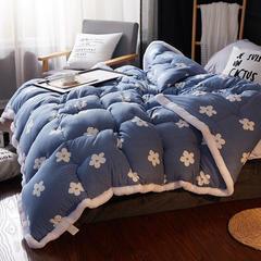 水洗棉冬被、新款毛绒边水洗棉冬被 150x200cm(3斤) 十里花开1