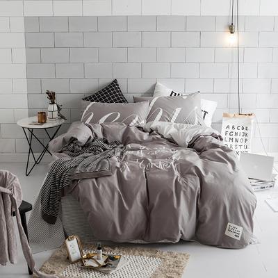 北欧极简新款套件(好运) 床笠款1.5m(5英尺)床 灰
