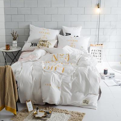 北欧极简新款套件(礼物) 1.5m(5英尺)床 白