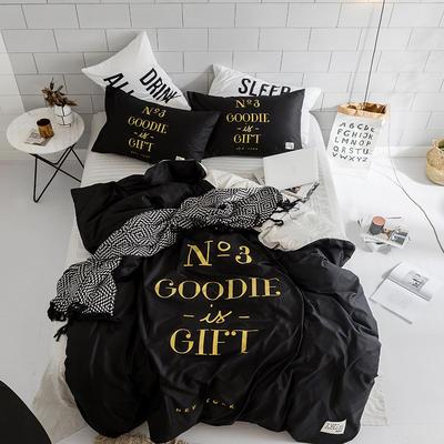 北欧极简新款套件(礼物) 床笠款1.5m(5英尺)床 黑