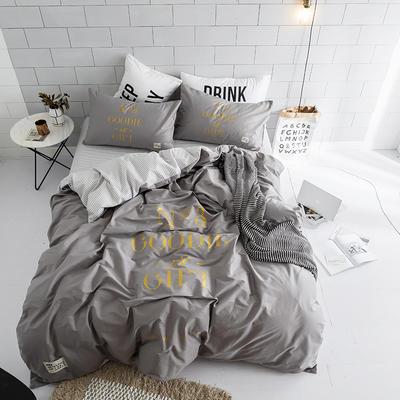 北欧极简新款套件(礼物) 1.5m(5英尺)床 灰
