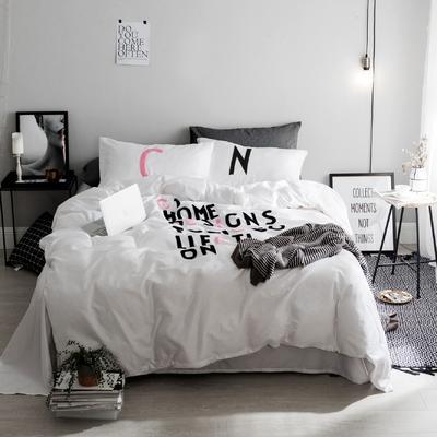 毛巾绣系列(字母款) 床笠款1.5m(5英尺)床 粉