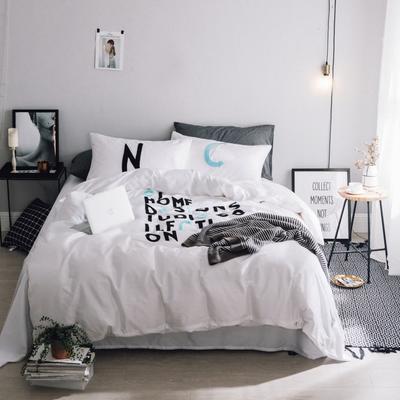 毛巾绣系列(字母款) 床笠款1.5m(5英尺)床 蓝