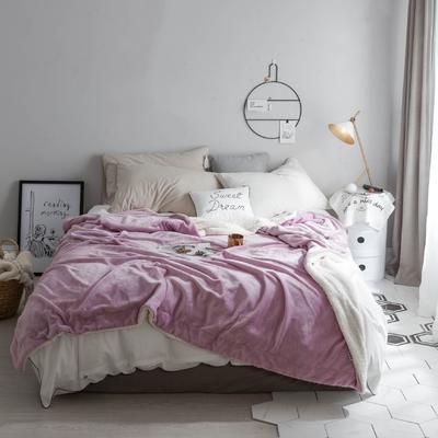 2018新款-羊羔绒纯色毯 150*200cm 浅紫