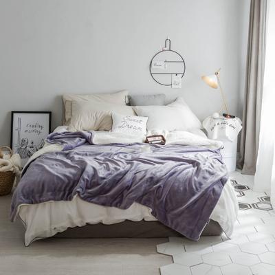 2018新款-羊羔绒纯色毯 150*200cm 深紫