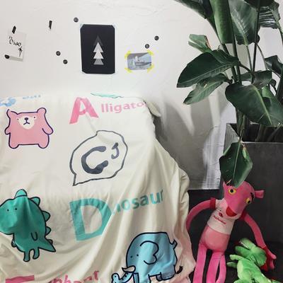 羊羔绒卡通平网毯 100×140cm ABC