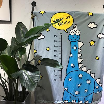 羊羔绒卡通平网毯 100×140cm 小恐龙