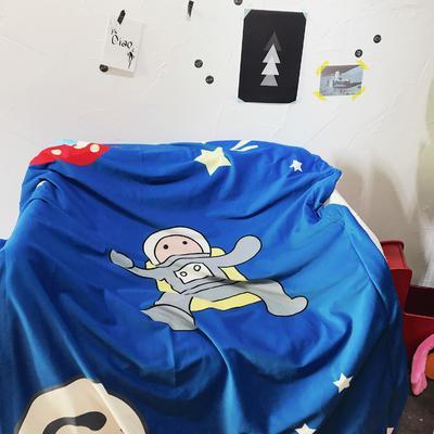 羊羔绒卡通平网毯 100×140cm 星球小超人