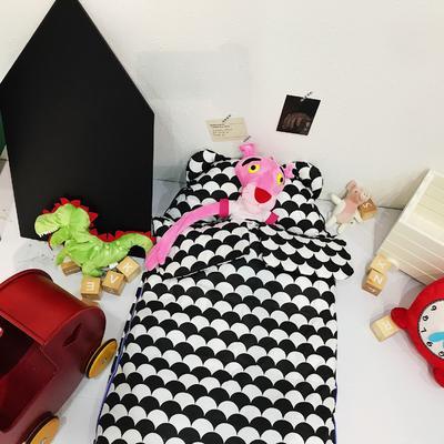 安心牌睡袋升级加大版-黑白系列(80*110cm) 条条的美