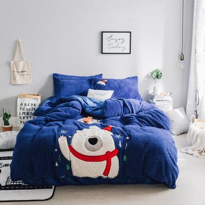 玮大宝 绒系列套件 1.5m(5英尺)床 圣诞节的小确幸