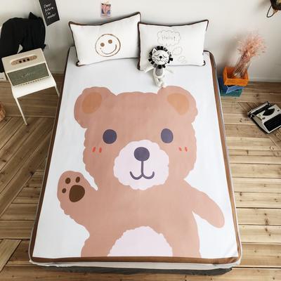 2018新款凉感丝三件套 150*200cm 棕熊熊