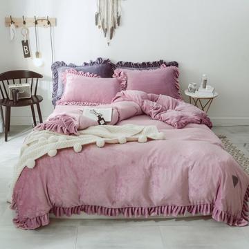 2018新款-洛丽塔四件套 1.5m(5英尺)床 俏皮紫