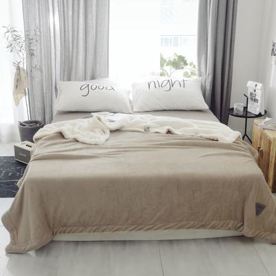 2018新款-羊羔绒纯色毯 150*200cm 米黄