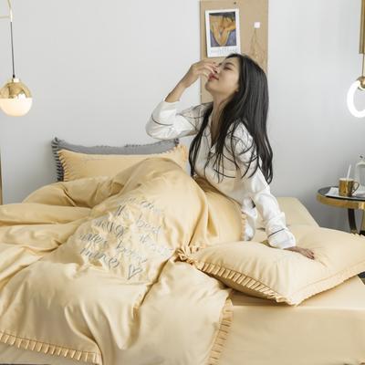 2019新款-Linda琳达四件套 1.8m(6英尺)床 1奶油黄