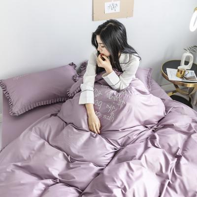 2019新款-Linda琳达四件套 1.8m(6英尺)床 2魅力紫