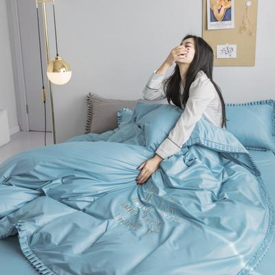 2019新款-Linda琳达四件套 1.8m(6英尺)床 蓝