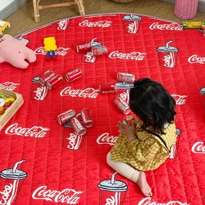 2019新款-防水收纳地垫野餐垫(室内) 200*200cm 可乐