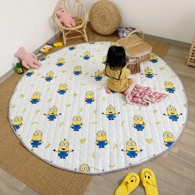 2019新款-防水收纳地垫野餐垫(室内) 200*200cm 香蕉黄人