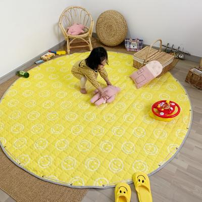 2019新款-防水收纳地垫野餐垫(室内) 200*200cm 笑脸