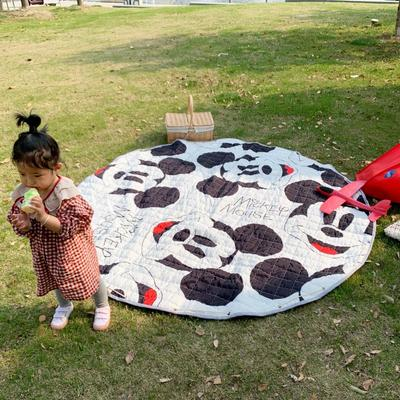 2019新款-防水收纳地垫野餐垫(室外) 200*200cm 大头老鼠