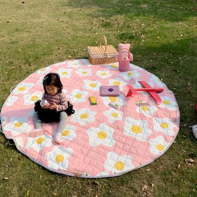 2019新款-防水收纳地垫野餐垫(室外) 200*200cm 蛋花