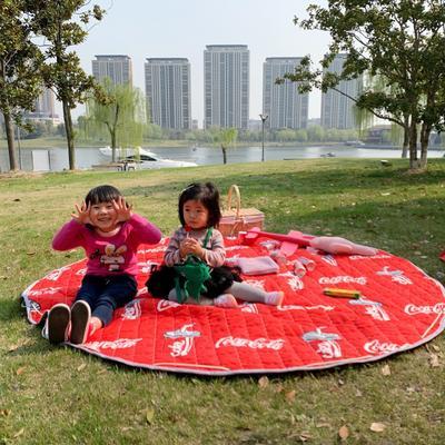 2019新款-防水收纳地垫野餐垫(室外) 200*200cm 可乐