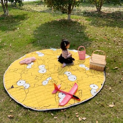 2019新款-防水收纳地垫野餐垫(室外) 200*200cm 小黄人