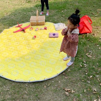 2019新款-防水收纳地垫野餐垫(室外) 200*200cm 笑脸