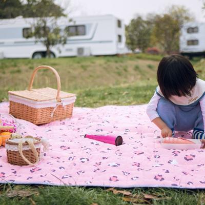 2019新款-防水野餐垫隔尿垫地垫2 140*220 粉豹纹