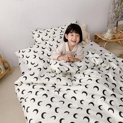 2019新款- 纯棉四件套 床单款三件套1.2m(4英尺)床 白月亮