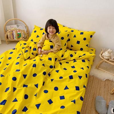 2019新款- 纯棉四件套 床单款三件套1.2m(4英尺)床 黄可爱
