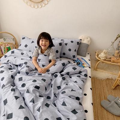 2019新款- 纯棉四件套 床单款三件套1.2m(4英尺)床 灰可爱