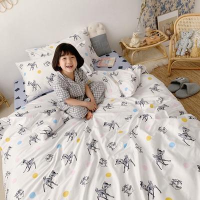 2019新款- 纯棉四件套 床单款三件套1.2m(4英尺)床 圈圈麋鹿