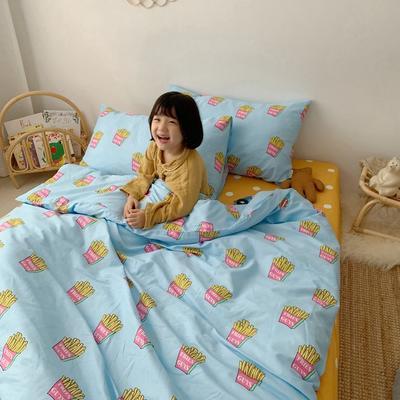 2019新款- 纯棉四件套 床单款三件套1.2m(4英尺)床 薯条君