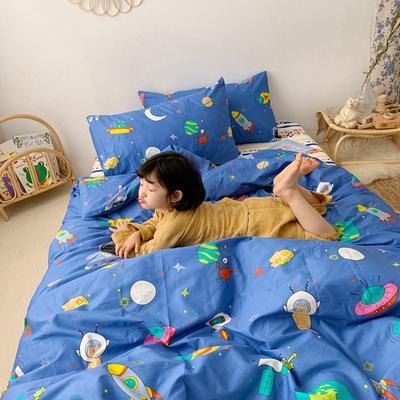 2019新款- 纯棉四件套 床单款三件套1.2m(4英尺)床 太空超人