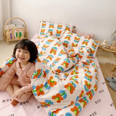2019新款- 纯棉四件套 床单款三件套1.2m(4英尺)床 网红花花