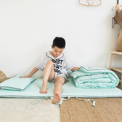 2019新款-幼儿园便携式床垫套件 夹棉床垫60*120cm 薄荷糖