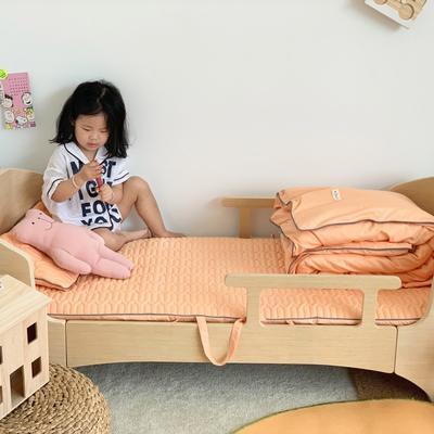 2019新款-幼儿园便携式床垫套件 夹棉床垫60*120cm 橘子糖