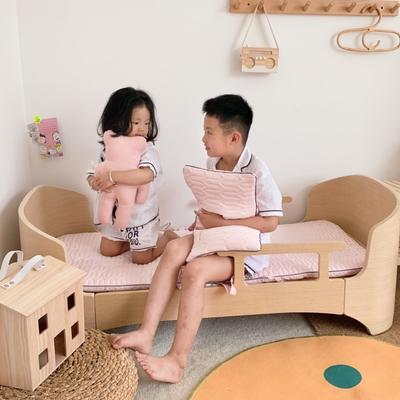 2019新款-幼儿园便携式床垫套件 夹棉床垫60*120cm 蜜桃糖