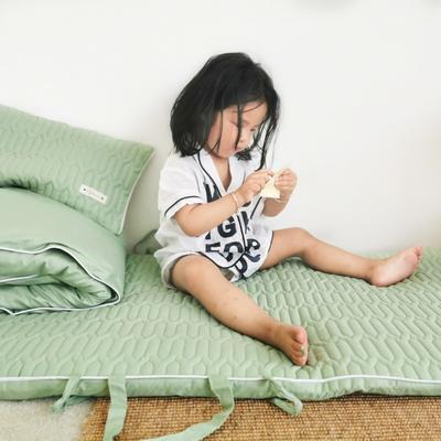 2019新款-幼儿园便携式床垫套件 夹棉床垫60*120cm 抹茶糖