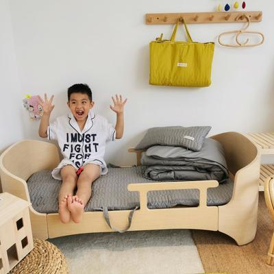 2019新款-幼儿园便携式床垫套件 夹棉床垫60*120cm 椰子灰