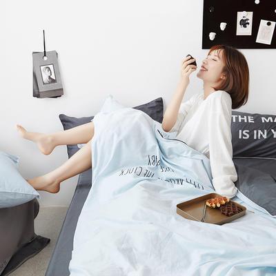 2019新款-60支简约轻奢四件套系列 床单款1.8m(6英尺)床 安睡-蓝灰
