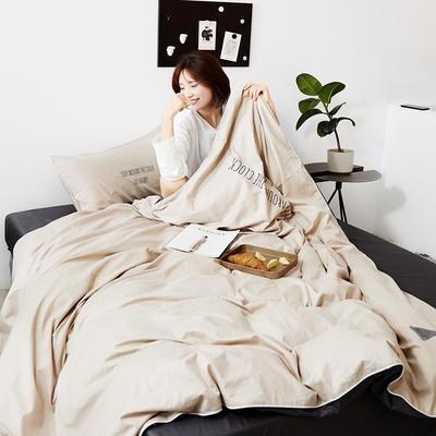 2019新款-60支简约轻奢四件套系列 床单款1.8m(6英尺)床 安睡-米灰