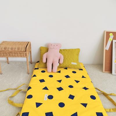 2019新款-印花幼儿便携式床垫套装 夹棉床垫60*120cm 黄可爱