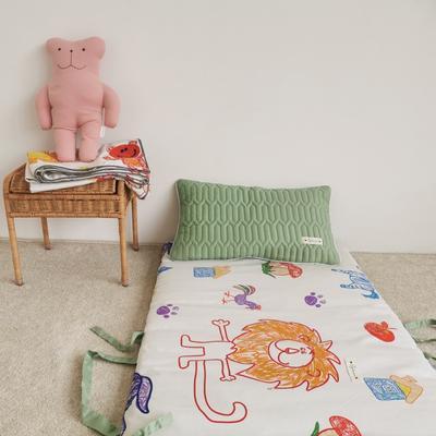 2019新款-印花幼儿便携式床垫套装 夹棉床垫60*120cm 蜡笔动物园