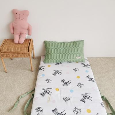 2019新款-印花幼儿便携式床垫套装 夹棉床垫60*120cm 圈圈麋鹿
